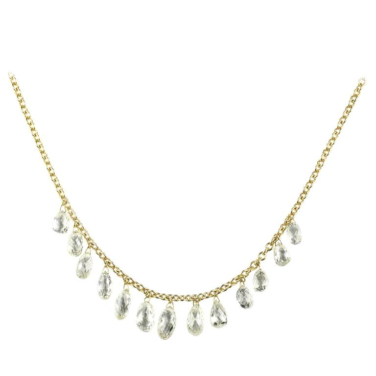 Julius Cohen Briolette Diamond Necklace