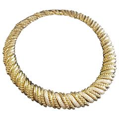 Piaget Diamond Pavé Gold link Collar Necklace