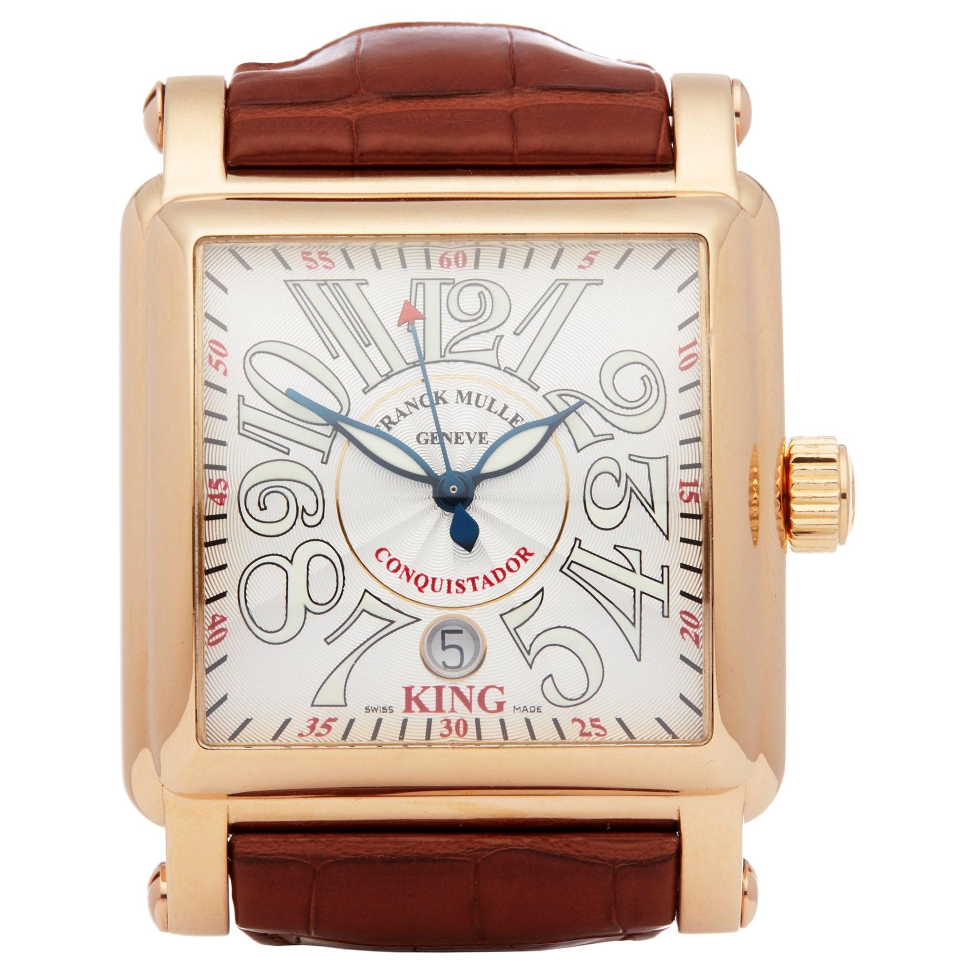 Franck Muller King Conquistador Cortez 10000K Men's Rose Gold Watch