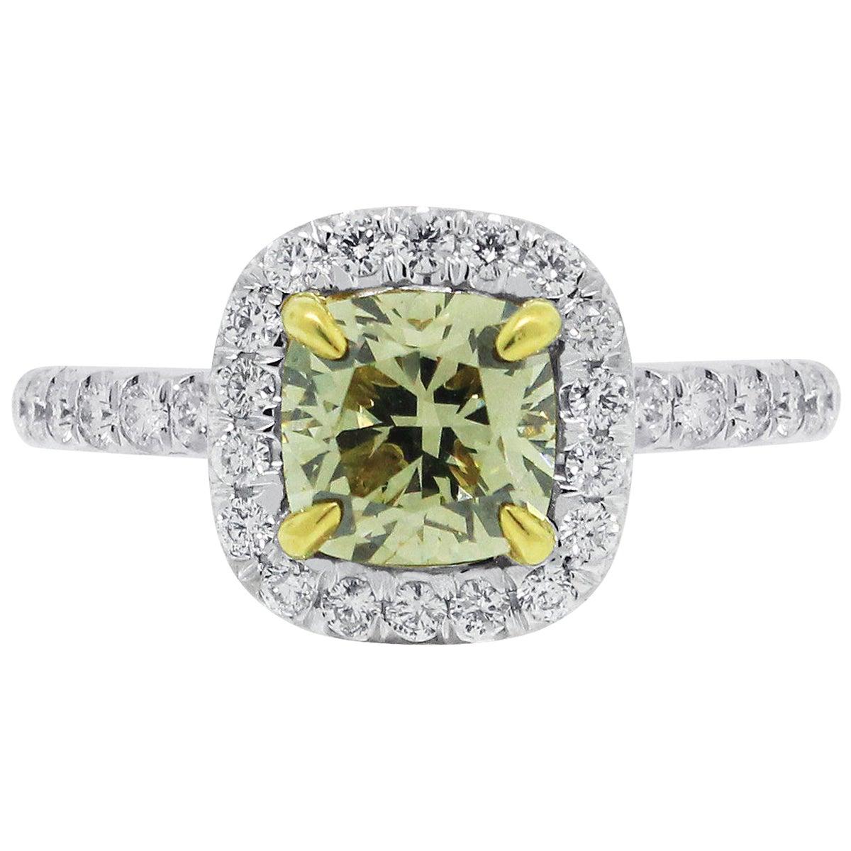 GIA Certified 1.23 Carat Diamond Engagement Ring