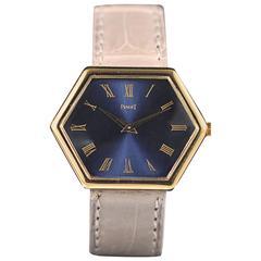 Piaget lady's yellow gold Hexagonal crocodile bracelet wristwatch