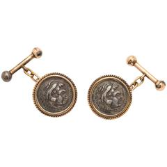 Roman Coin Gold Cufflinks