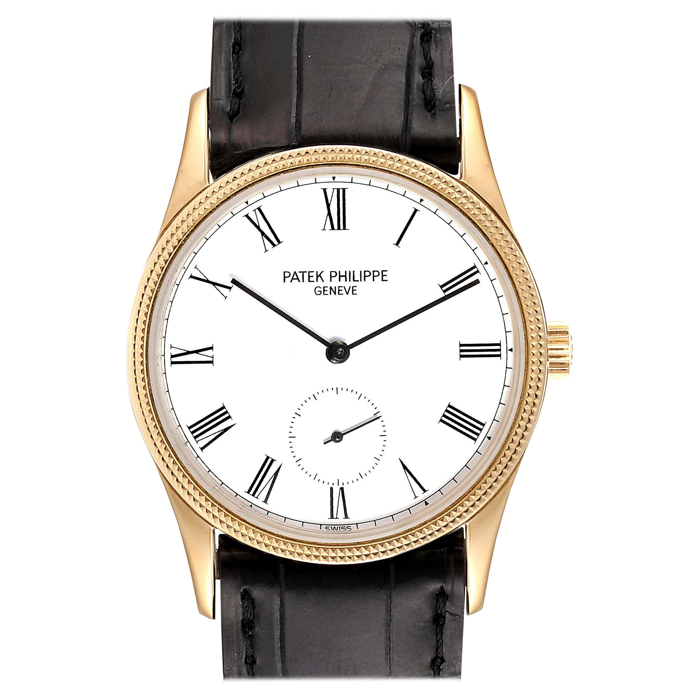 Patek Philippe Calatrava 18 Karat Rose Gold Vintage Watch 3796