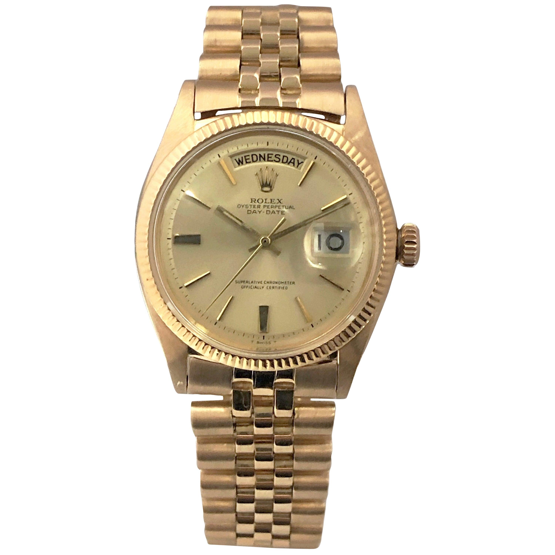 Rare Rolex Vintage Rose Gold Ref 6612 Day Date President Wristwatch