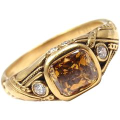 Alex Sepkus Fancy Brown 1.03 Carat Diamond Gold Cocktail Ring
