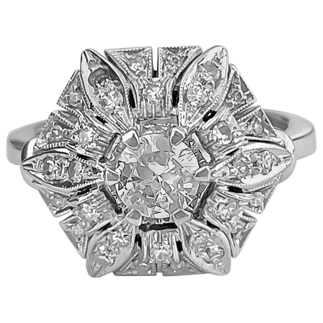Art Deco Style GIA Certified 2.00 Carat Diamond Engagement Ring