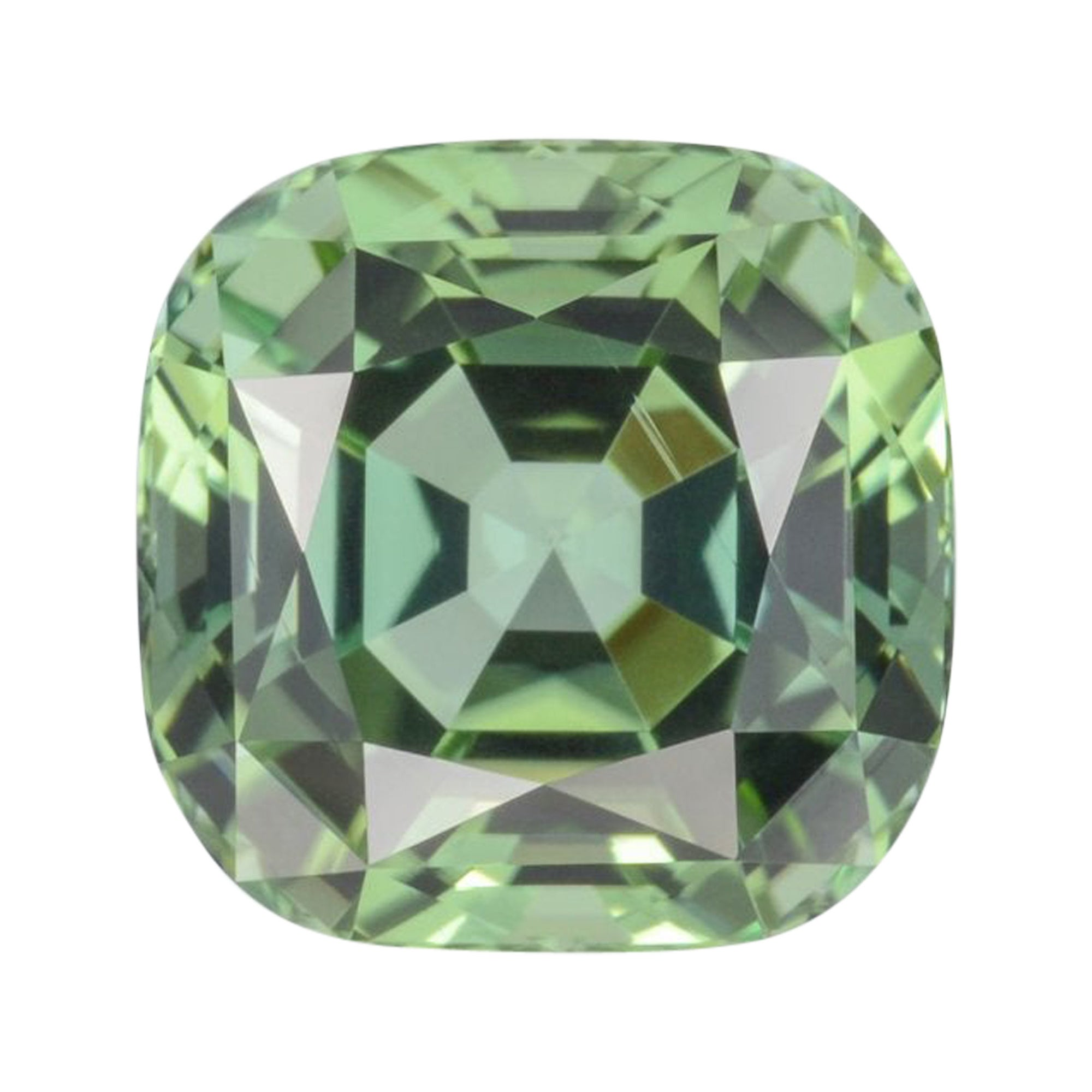 Green Tourmaline Ring Gem 5.27 Carat Loose Gemstone