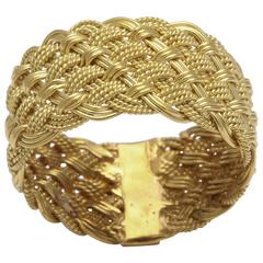 Handwoven Italian Gold Band Ring