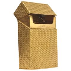 Solid 18 Karat Gold Cigarette Box
