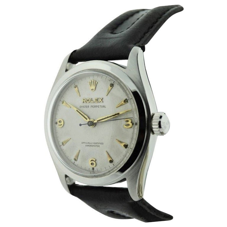 Rolex Stainless Steel Oyster Perpetual Wristwatch from 1952