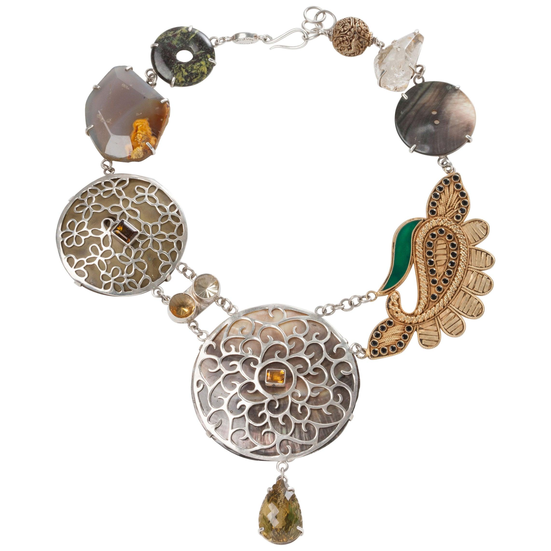 Jane Magon's Rajasthani Desert Bound Silver Statement Necklace