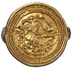 Ancient Medusa Gold Ring C300BC