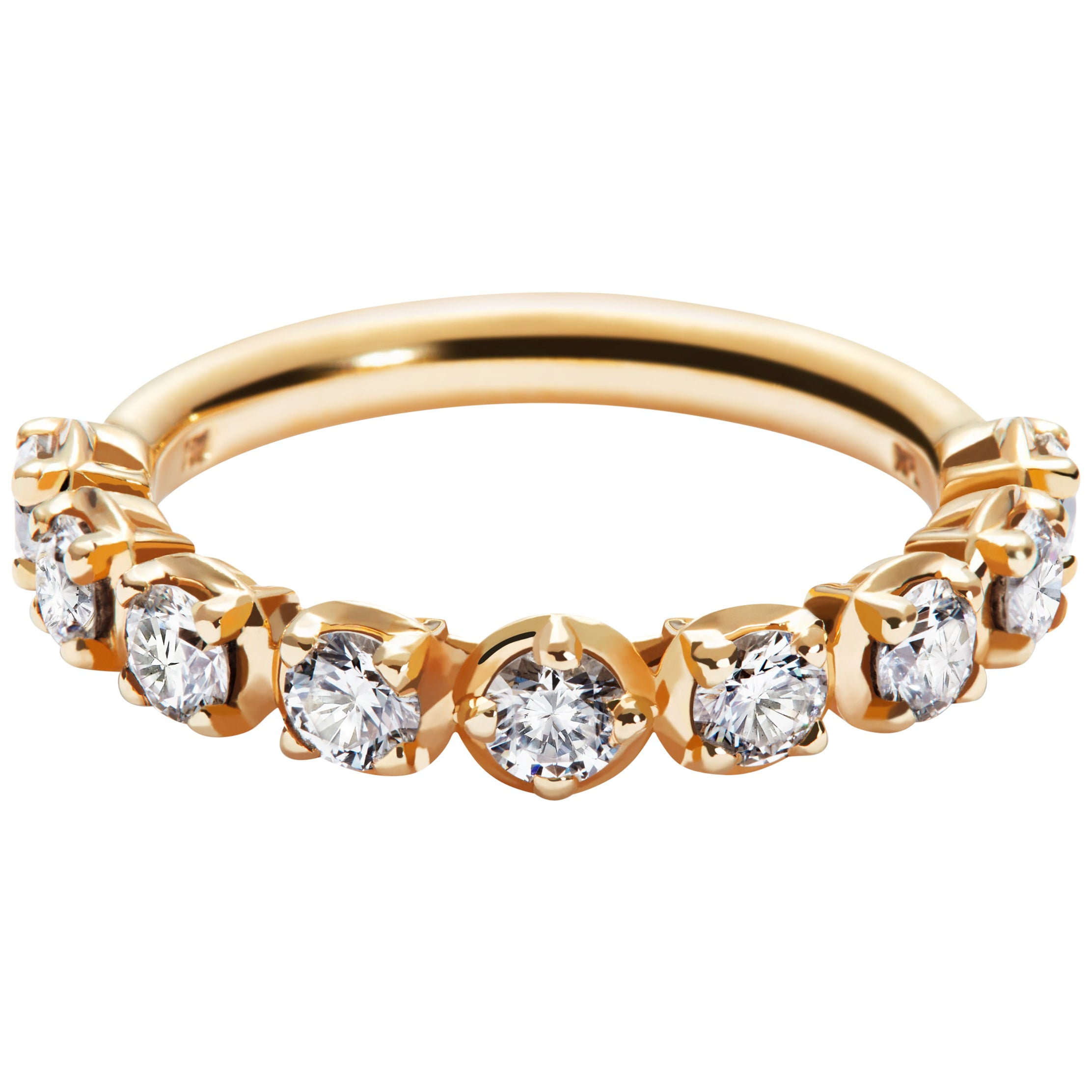 Band Ring with Traceable Diamond in 18 Karat Yellow Gold by Rocks for Life