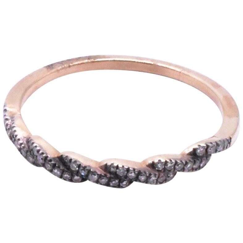 Diamond 1/2 Hoop Eternity Band Ring, circa 1920