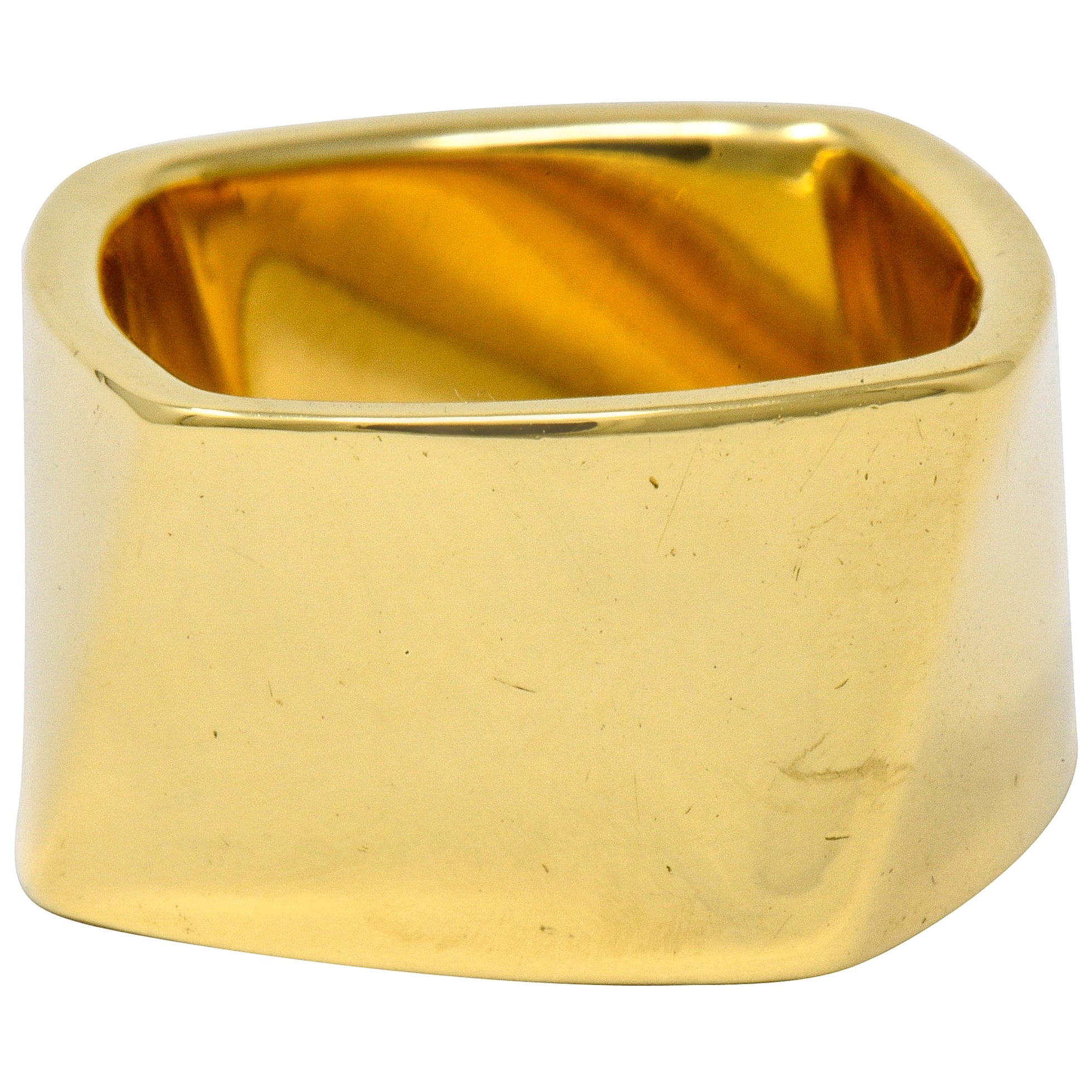 Frank Gehry Tiffany & Co. 18 Karat Gold Wide Torque Band Ring