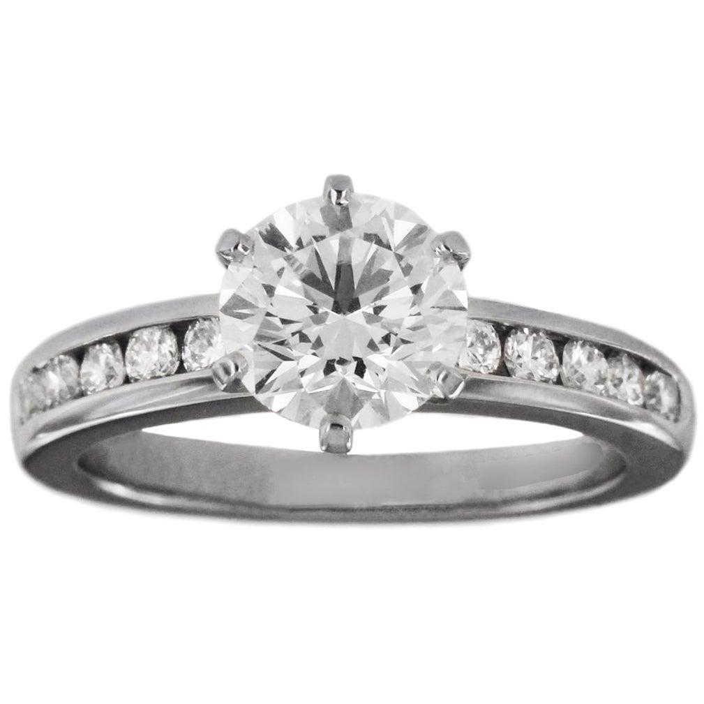 Tiffany & Co. Round Cut Engagement Ring 1.61 Carat in Platinum
