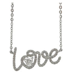 Jona Diamond Gold Love Pendant Necklace
