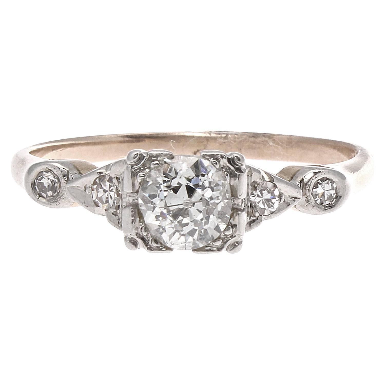 Victorian Diamond Gold Engagement Ring at 1stdibs