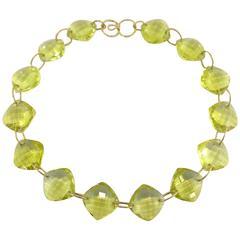 Jona Citrine Gold Necklace