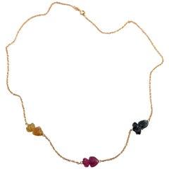 Jona Fish Tourmaline 18 Karat Rose Gold Chain Necklace