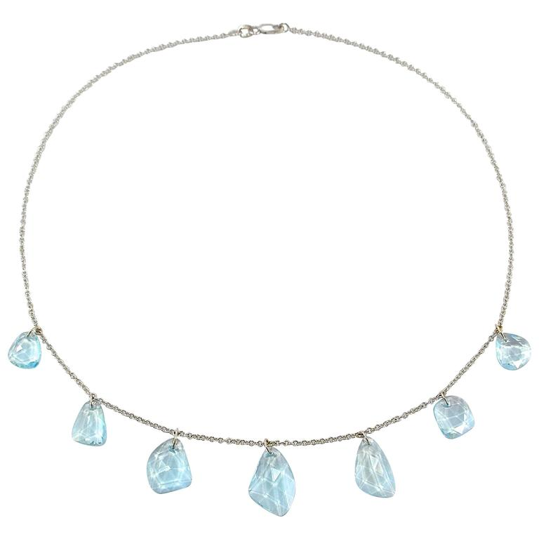 Jona Aquamarine Gold Necklace 1
