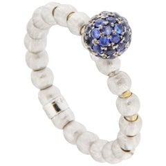 Jona 18 Karat White Gold Blue Sapphire Flexible Ring