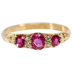 Certified No-Heat Ruby and Diamond Ring
