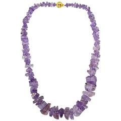 Jona Crazy Cut Amethyst Necklace