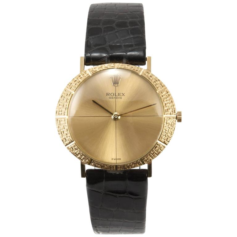 Rolex Yellow Gold Dress Wristwatch Ref 3613 For Sale