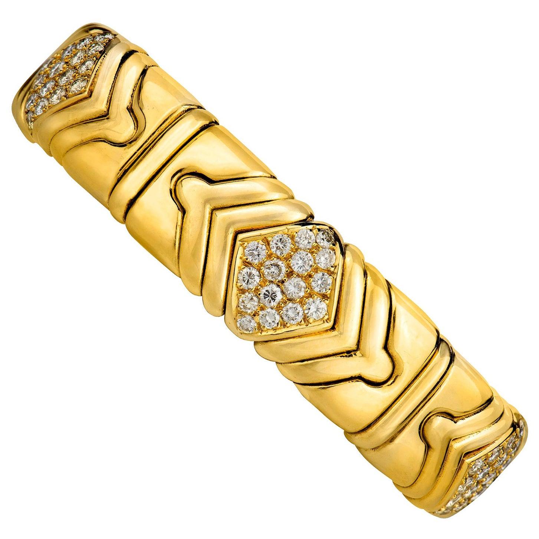 Bulgari Diamond Bangle Bracelet