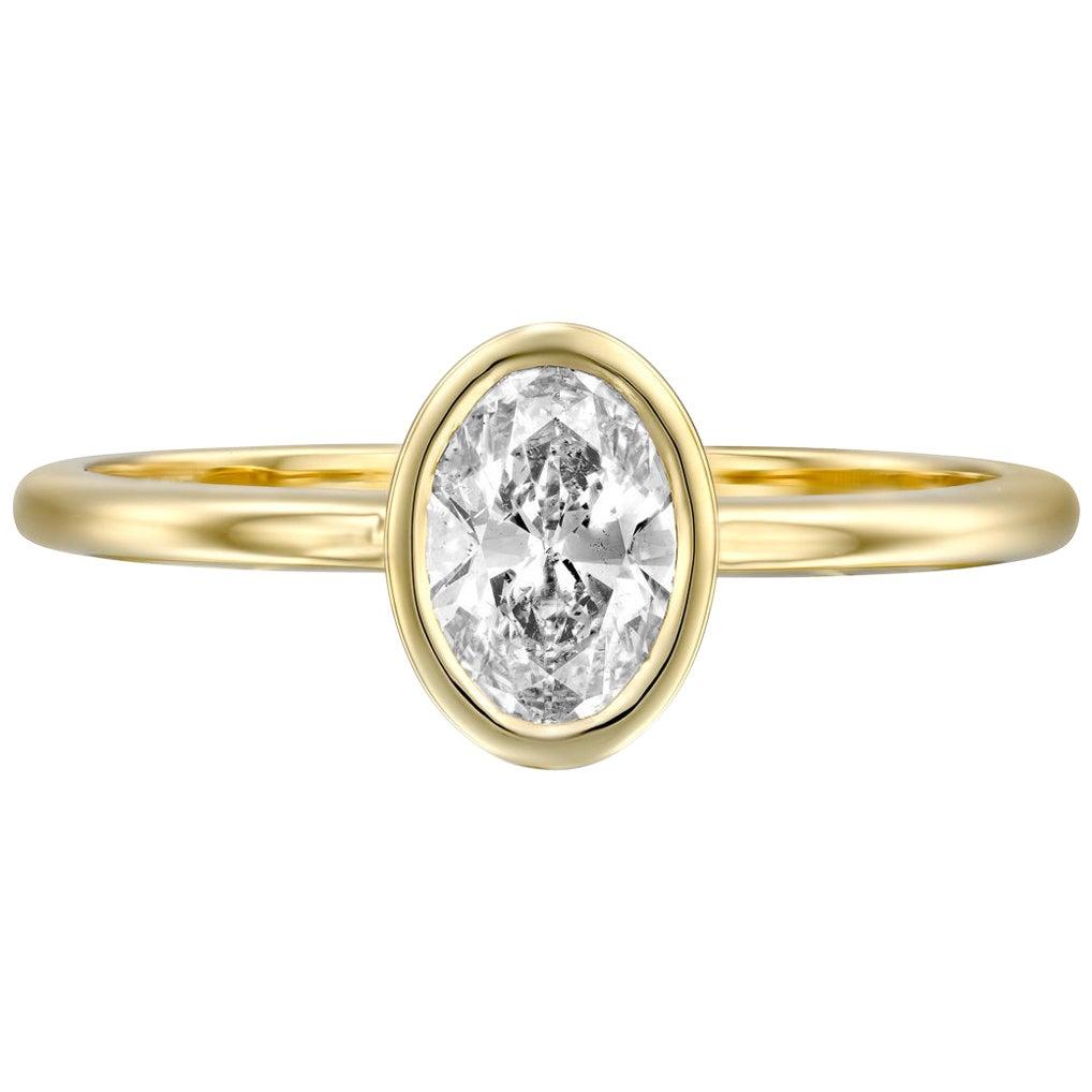 GIA Certified 1/3 Carat 14 Karat White Gold Oval Diamond Ring