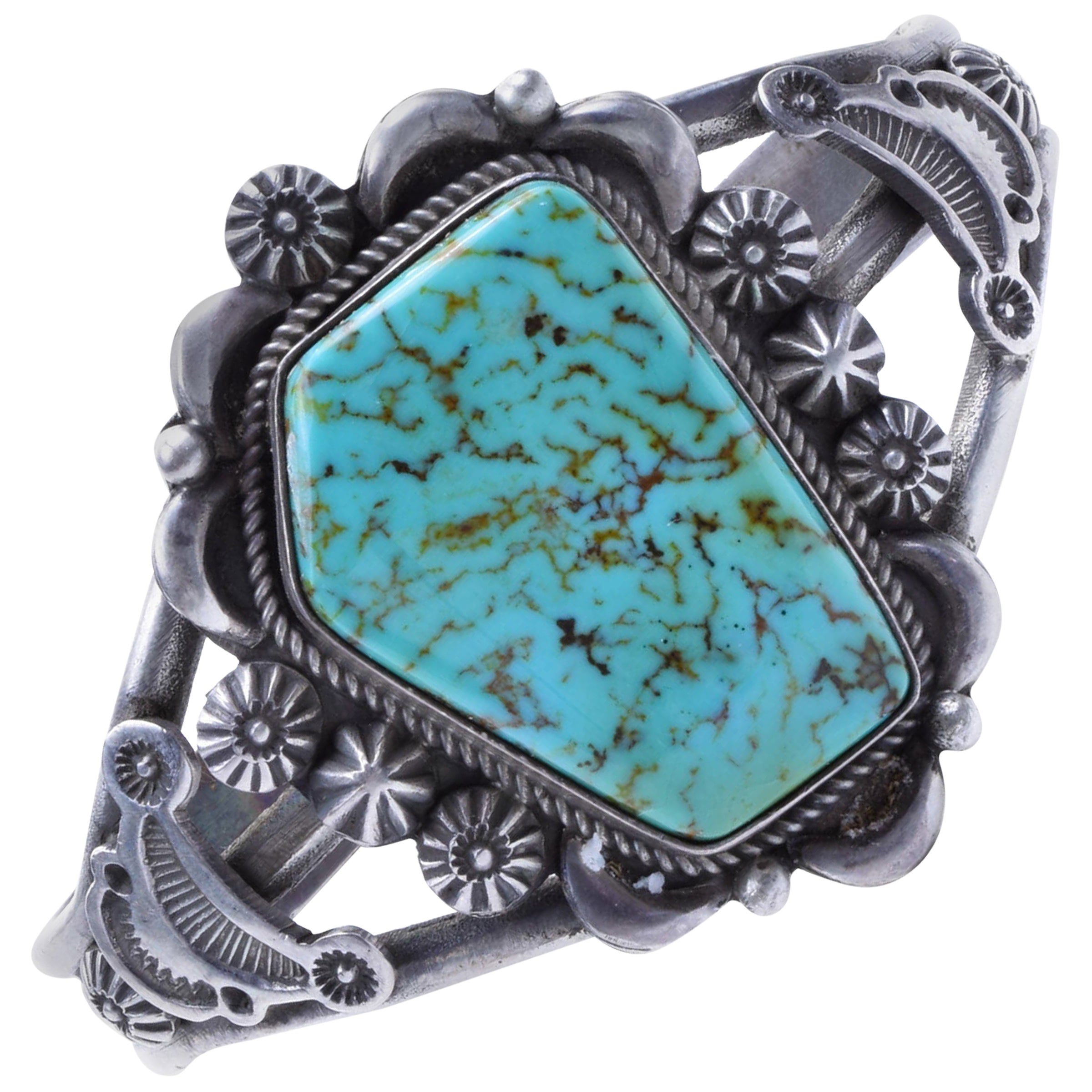 Navajo Turquoise and Sterling Bracelet