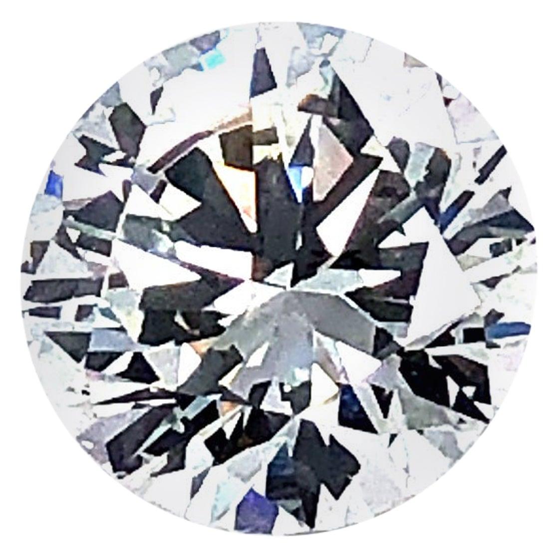 GIA 3.06 Carat G Vs2 Round Brilliant Cut Diamond