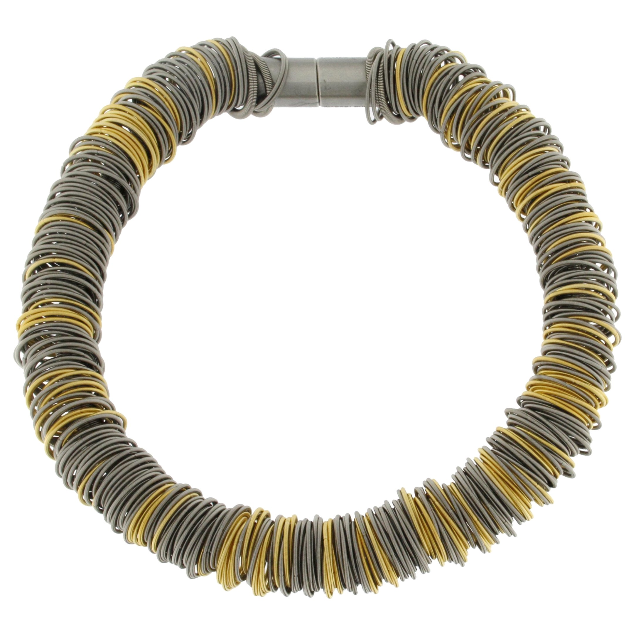Maxi One Stainless Steel and Gold-Plated Stainless Steel Necklace