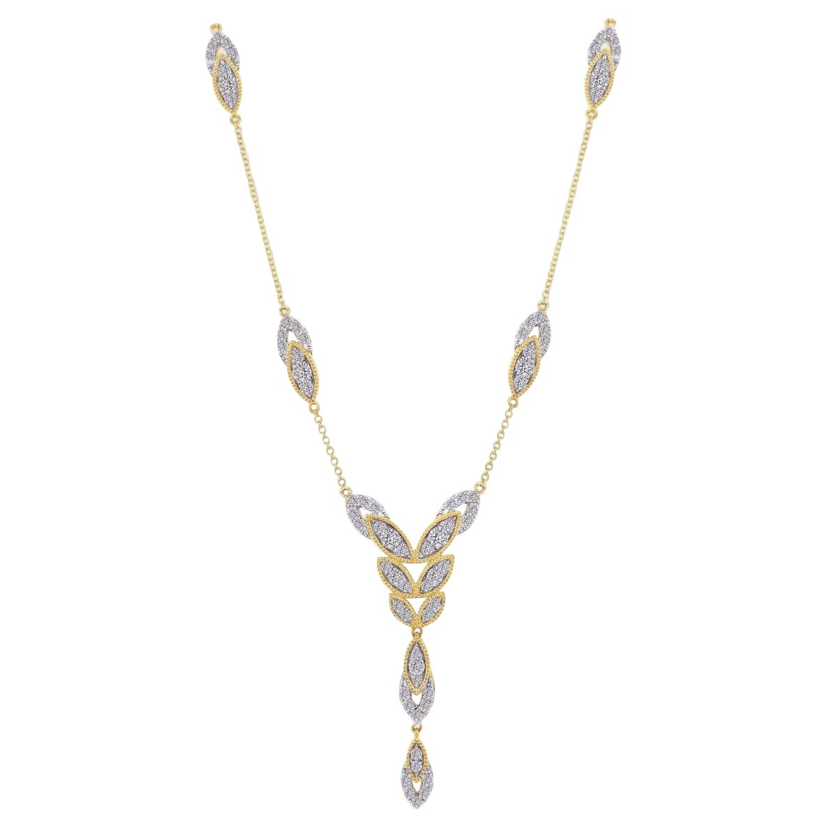 Diamond Bloom Long Necklace in 18 Karat Gold