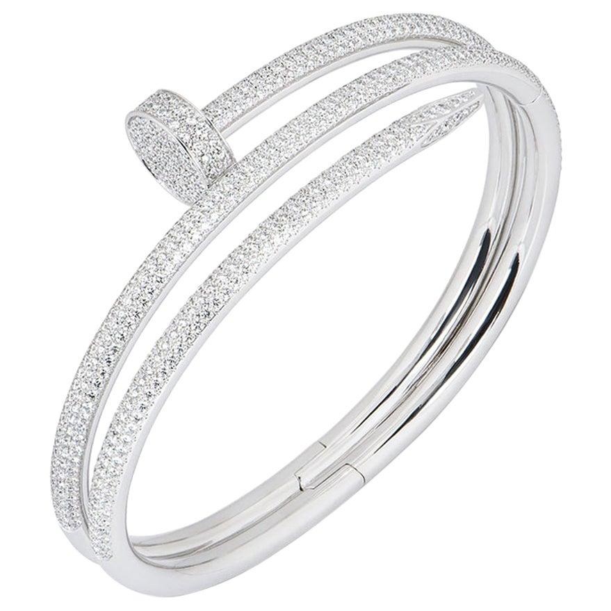 Cartier White Gold Diamond Juste Un Clou Bracelet N6708719