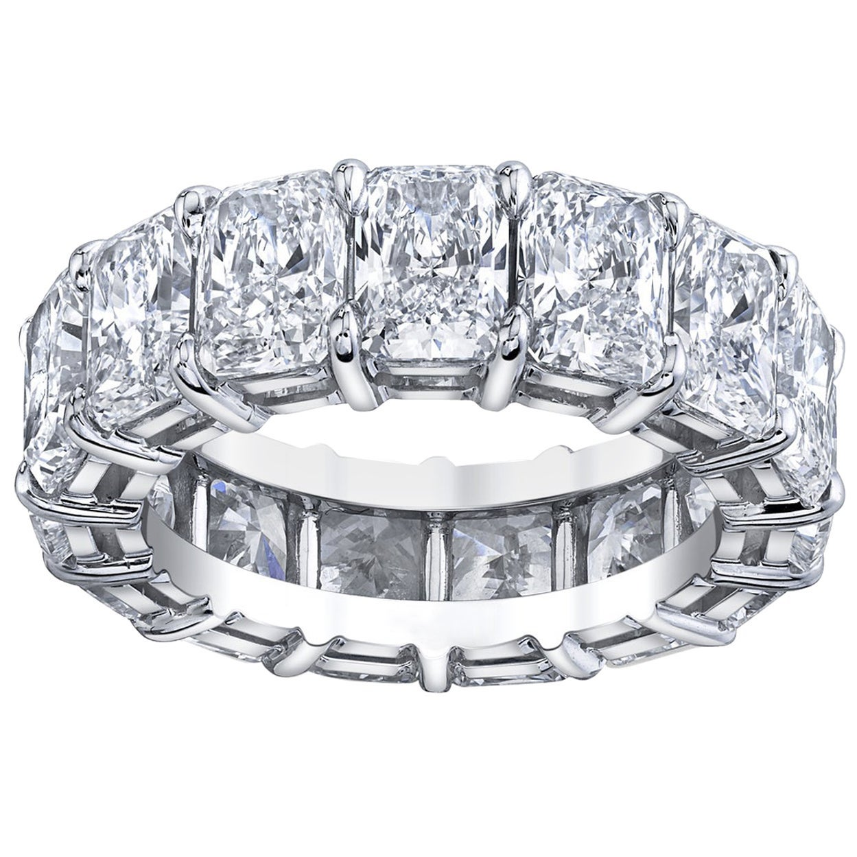Radiant Cut Diamonds Eternity Band