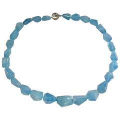 Jona Aquamarine Crazy Cut Necklace