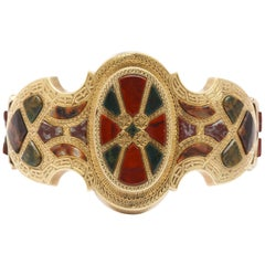 Victorian Scottish Gold and Agate Bracelet
