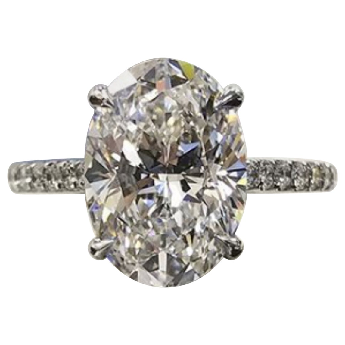 GIA Certified 1 Carat Oval Diamond Engagement Ring