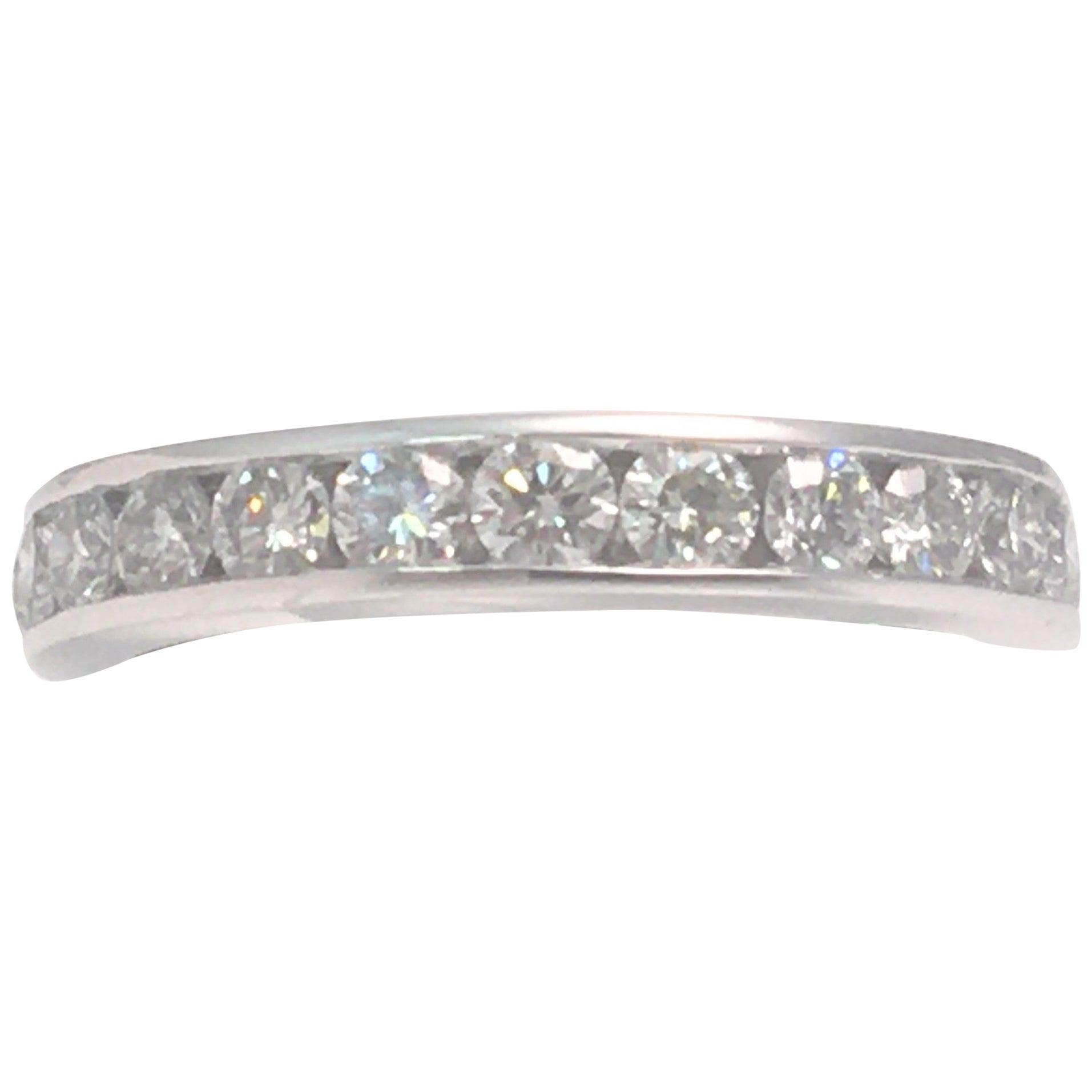 Platinum Diamond Channel Eternity Ring