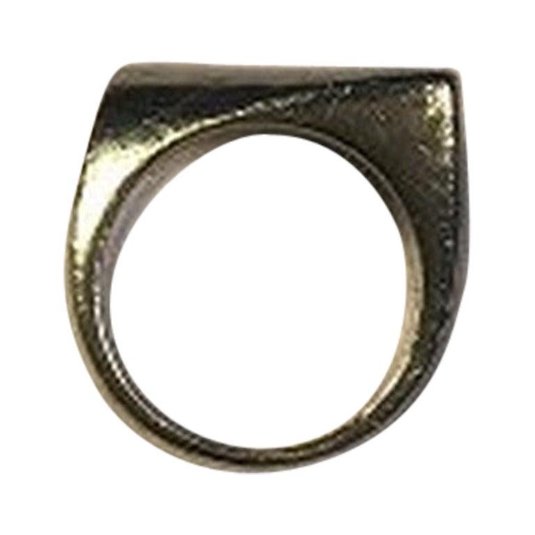 Georg Jensen Sterling Silver Ring No 141 Plaza Henning Koppel