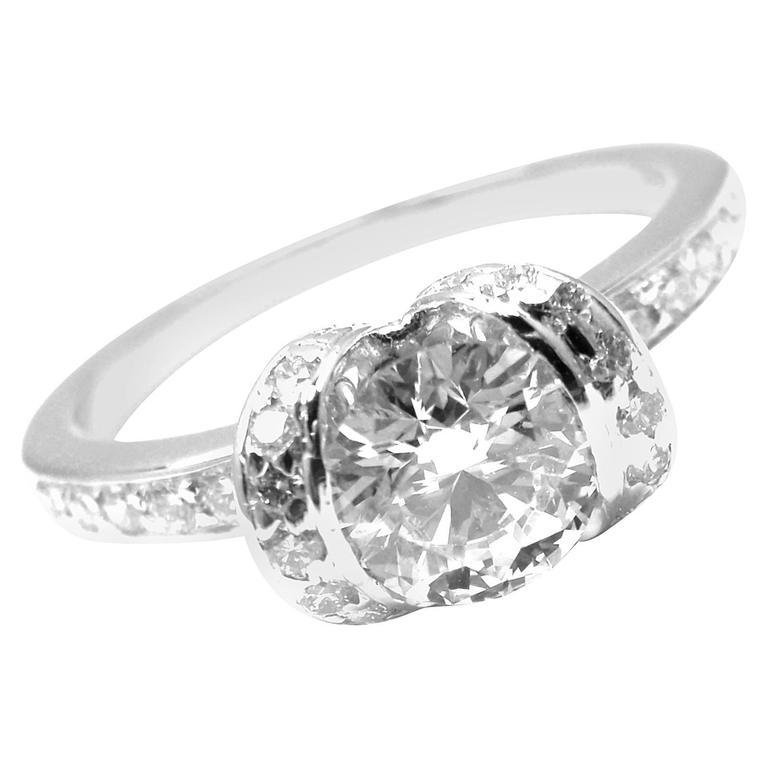 and co platinum ribbon engagement ring at
