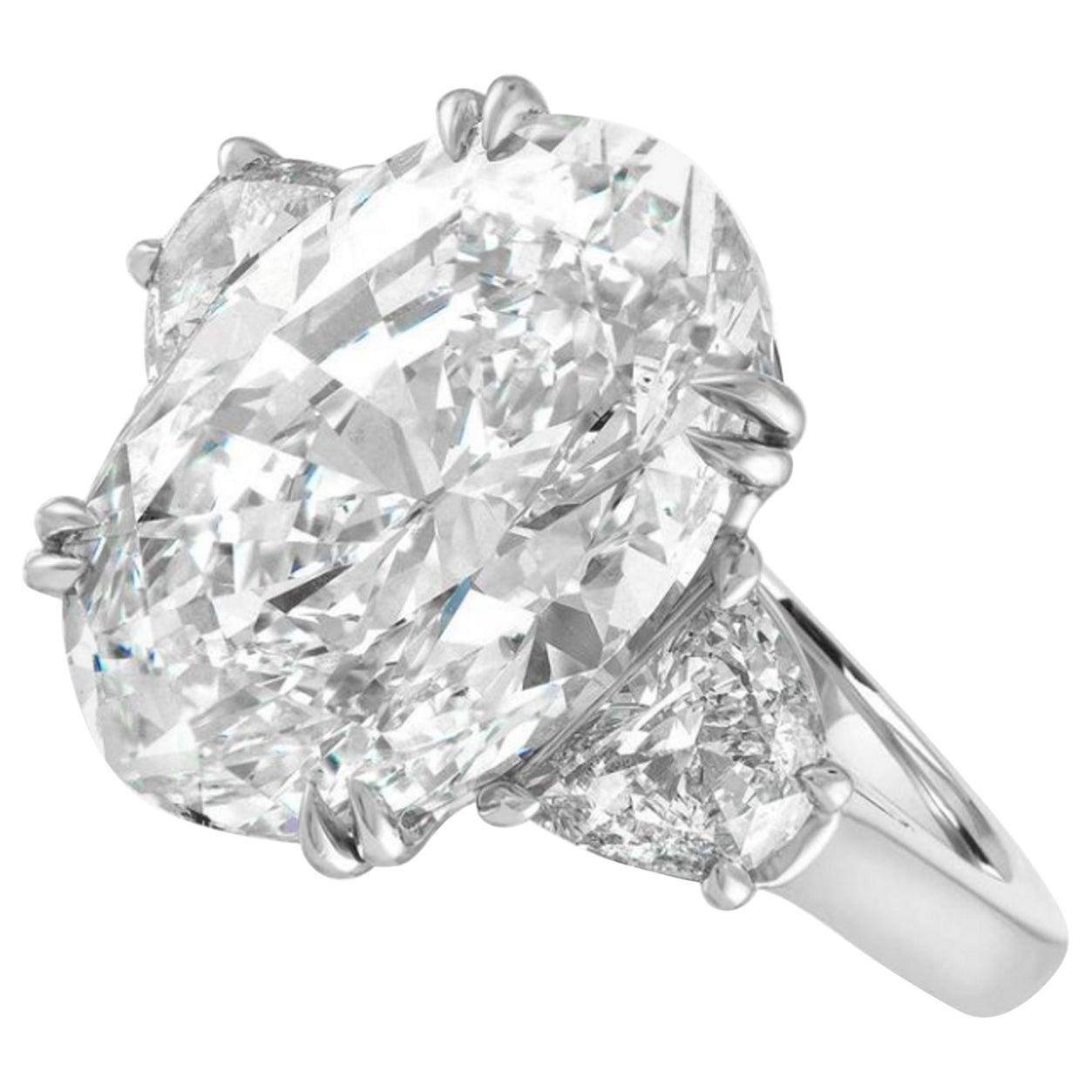 GIA Certified 5.50 Carat Oval Brilliant Cut Diamond Ring VS2
