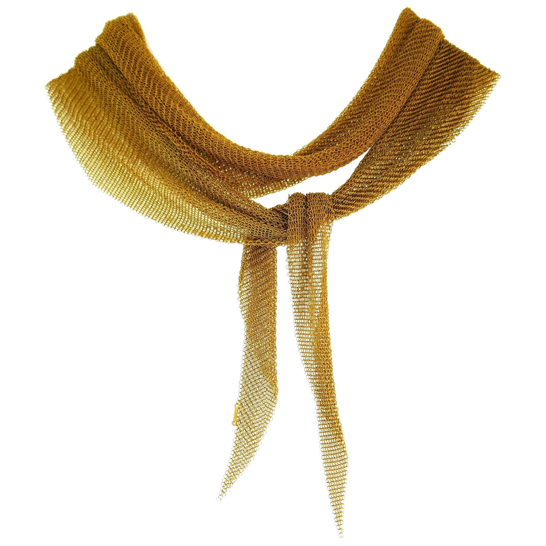 Tiffany & Co. Peretti Gold Mesh Scarf Necklace Large