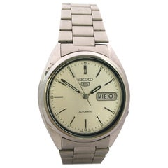 Vintage 1970s Stainless Steel Seiko Automatic Watch