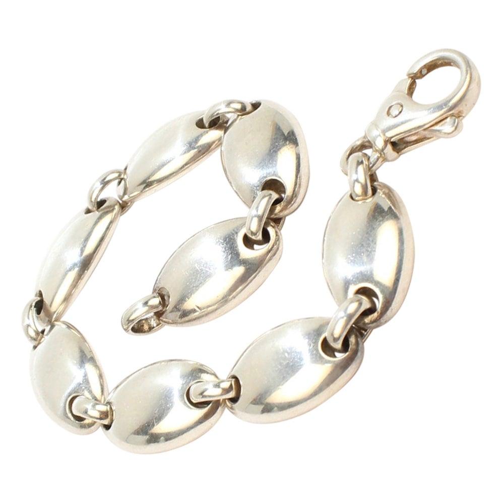 Tiffany & Co. Sterling Silver Pebble Link Bracelet