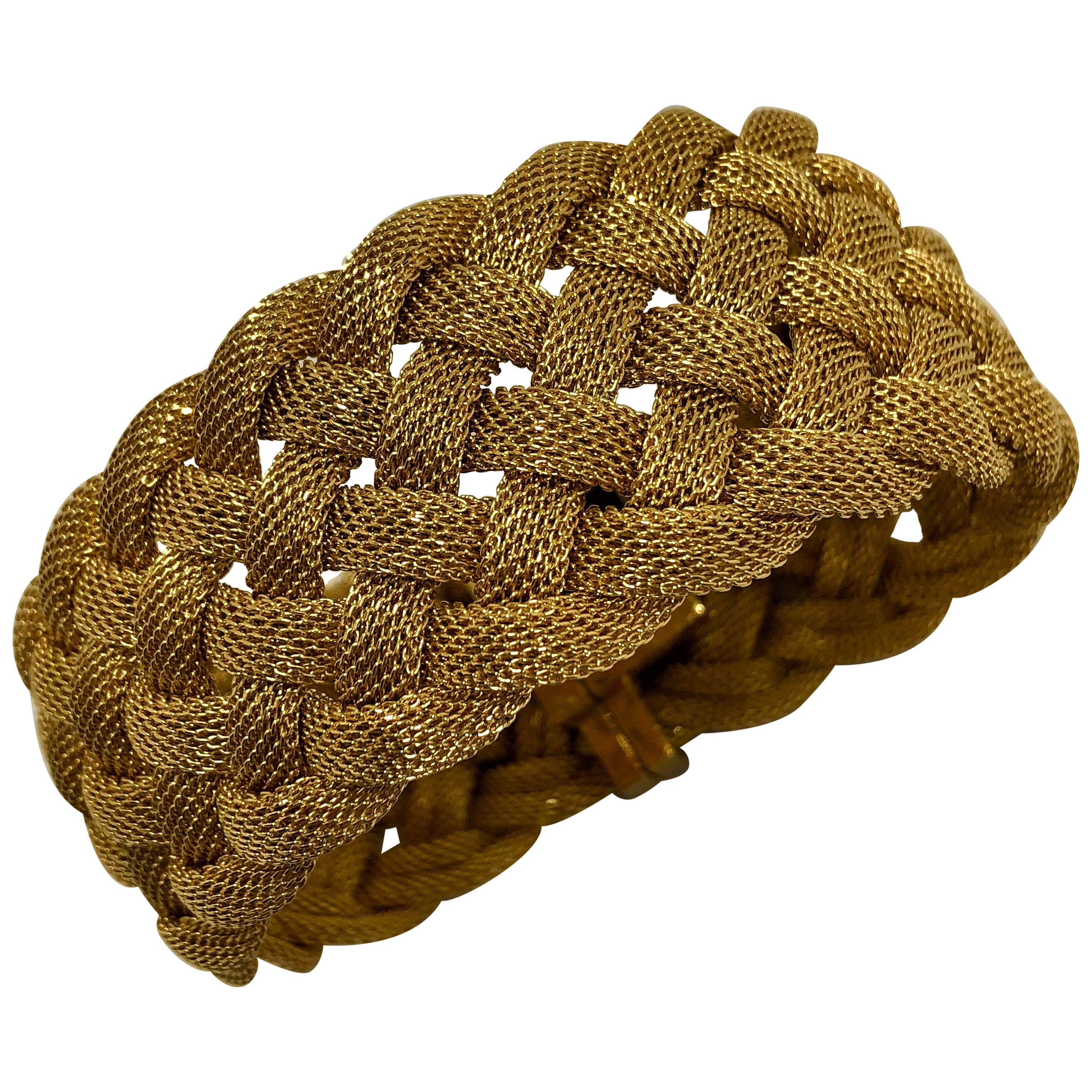 Tiffany & Co. Woven Gold Mesh Bracelet