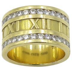 "Tiffany & Co. Diamond Gold ""Atlas"" Band Ring"