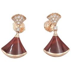 Bvlgari 'Diva's Dream' Rose Gold Carnelian and Diamond Earrings